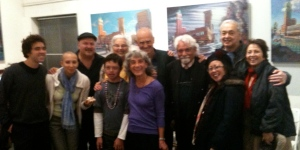 The Landau's and Serranos with Cuban poet Pablo Armando Fernandez
