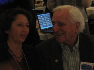 Valerie Landau and Douglas Engelbart at Program for the Future 2010