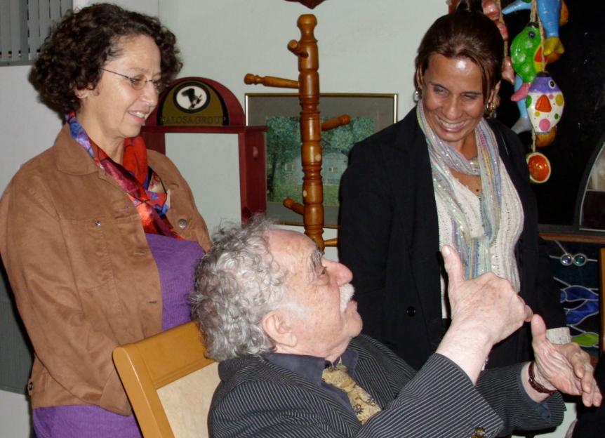 Valerie Landau, Gabriel Garcia Marquez and Maggie Alarcon